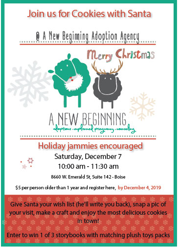 a new beginning flyer cookies for santa