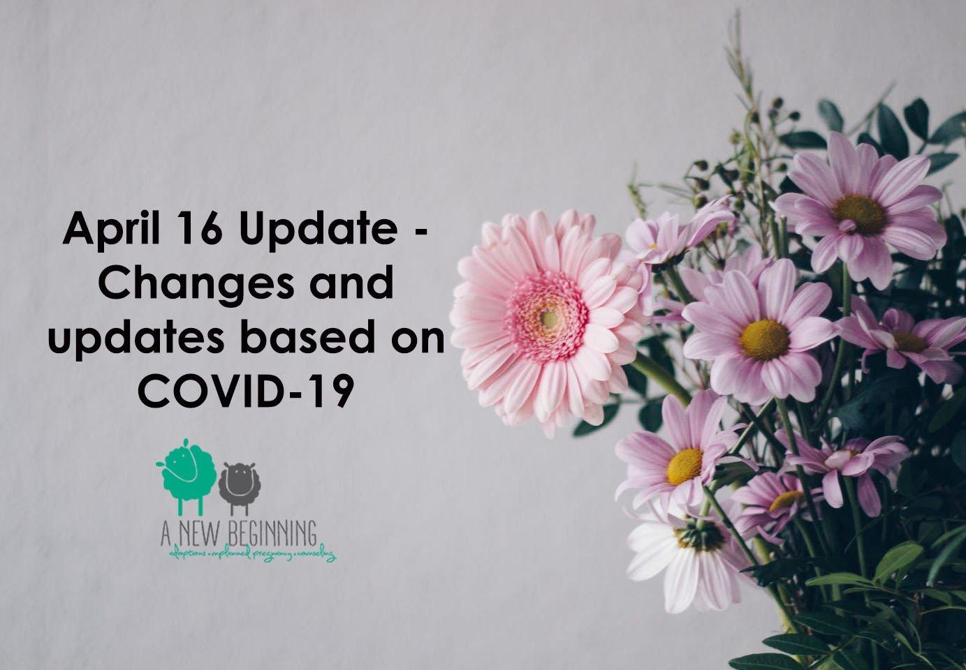 COVID-19 UPDATE April 16